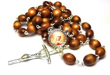 St Catherine of Siena brown relic rosary against miscarriages fire, bodily ills