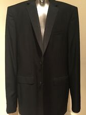 NWT BURBERRY LONDON Mens Black Wool Mohair Tuxedo Suit US 48L $1,895 ITALY