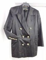 Escada Margaretha Ley Blazer Jacket Coat 100% Cotton Germany Black Women's 38(?)