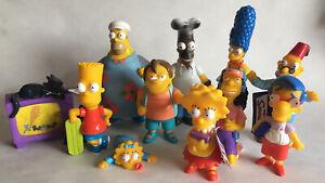 2001 The Simpsons Action Figure Toy Full Set Bundle Burger King Homer Moo Moo