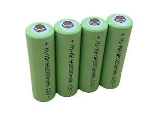 AA or AAA HIGH CAPACITY Rechargeable Batteries Ni-MH 1.2v 900 1300 2000 2500 mAh
