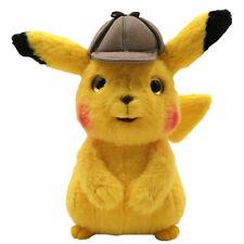 """Detective Pikachu Pokemon Plush Toy spin-off Pokedoll Stuffed Animal Figure 9"""""""