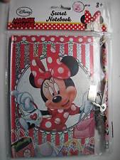 DISNEY Minnie Mouse segreto blocco NOTE NOTEBOOK DIARIO BLOCCO MATITA