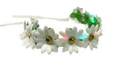 Daisy Flower LED Light Up Headband Woman Girl Hair Wreath Garland Festival Light