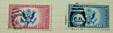 Two 16 Cent (Red & Blue) Special Delivery Air Mail U.S. Postage Stamps