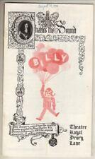 "Michael Crawford  ""Billy""  (Billy Liar)   Playbill  London 1974 Elaine Paige"