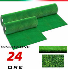 Erba Prato Manto Sintetico Erbetta Verde DRENANTE - Lungo 1 metro - H 1 mt