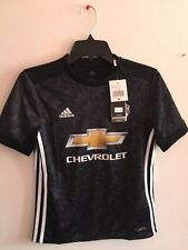 Adidas Manchester  United Away 2017-18 jersey Black White Size YM Boy's Only