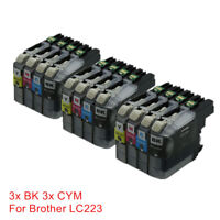 12x LC223 LC221 Ink Cartridges Compatible For Brother DCP-J4120DW J562DW J680DW
