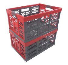 2x Profesional - Caja Plegable Tüv Certficado 45L hasta 50Kg Antracita / Rojo