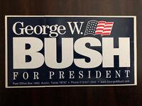 "2000 ""George W. Bush for President"" Presidential Campaign Bumper Sticker"