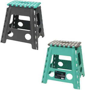 Extra Tall Large Folding Step Stool Strong Home Kitchen Easy Carry Assorted