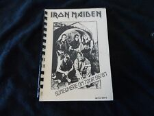 Iron Maiden Tour Itinerary Somewhere in Time Tour Extremely Rare, given to Crew