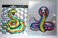 ALT  2x Schlangen Rainbow Aufkleber 1970er Jahre UHW Sticker 10cm x 10cm (30)