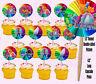 Trolls Dreamworks Movie Double-Sided Cupcake Picks Cake Toppers -12 pcs Poppy