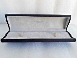 Authentic Longines watch wristwatch box cover case men women blue faux leather
