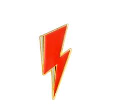 David Bowie Lightning Bolt Punk Rock 1970s retro PIN brooch enamel US SELLER