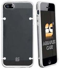 WHITE CLEAR AQUAFLEX HARD CASE SOFT TPU COVER SKIN BUMPER FOR APPLE iPHONE 5 5s