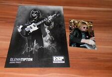 Glenn Tipton *Judas Priest*, original signed ESP CARD 20x25 cm (8x10)