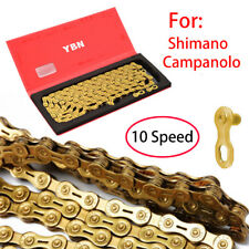 Gold YBN 10 Speed Bicycle Chain 116 links For Shimano Campanolo MTB Bicycle New