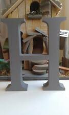 Any 4 Grey Wooden Letters, Any A-Z, 13cm Large Letters, Numbers, & Signs, @ Sign