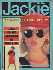 Jackie Magazine 9 June 1984 Issue 1066  Ian McCulloch Howard Jones Tracey Ullman