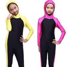 Kids Swimwear Muslim Full Cover Swimsuits Islamic Modest Beachwear Girls Burkini