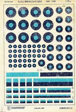 Almark Decals S.E.A.C. Roundels 1943 - 1946 Modelbau Decal Abziehbilder