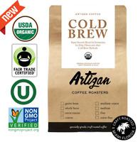 Cold Brew - 100% USDA Organic Fairtrade Non-GMO Kosher - Medium Dark - 12 oz