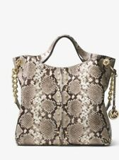NWT Michael Kors Astor Studded Python Embossed Leather Tote MSRP $498