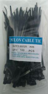 Kabelbinder Schwarz 3,6 x 120mm