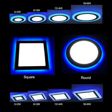 Dual Color LED Ceiling Light Recessed Panel Downlight Spot Lamp Round/Square 23