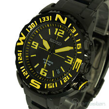 New SEIKO SUPERIOR MONSTER AUTOMATIC BLACK FACE YELLOW MARKERS SRP449K1