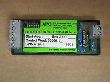 Seriplex (APC, SquareD) SPX-AIN81 Analog Input Module, 1 Ch 8 bit