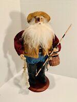 "Fishing Santa Claus Fisherman 15.5"" Tall"