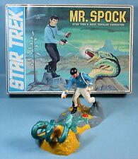 1968-1970s Star Trek Mr. Spock Plastic Model Kit Large Box Leonard Nimoy