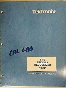 Tektronix S-53 Trigger Recognizer Head Instruction Manual 070-1147-00 Rev OCT 87
