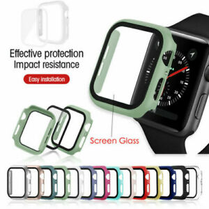 New Case Cover For Apple Watch 4 5 6 SE Screen Protector Cover 38/40mm 42/44mm