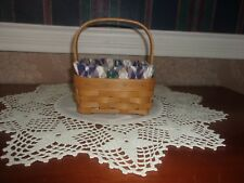 Longaberger 2005 Coaster Tote Basket Set with Act Coasters - Woven Traditions Pl