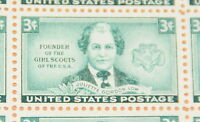 1948 sheet of postage stamps, Juliette Low, Sc# 974