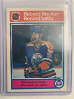1982-83 O-Pee-Chee Record Breaker #1 Wayne Gretzky - More Records For Gretzky -