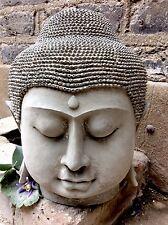 Molto grande splendidamente dettagliate Buddha Statua Testa (10 kg) per la casa o in giardino.