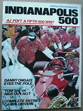1978 Indy 500 Official Program Indianapolis AJ Foyt Race Racing