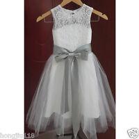 Flower Girl Dress Lace Tulle TUTU  Wedding Easter Junior Bridesmaid Dress