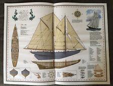 Bluenose Ii Yacht Plans - Large Display - Boat Ship Sailboat Nautical Maritime