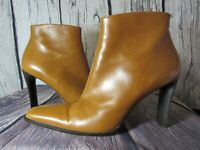 Charles David Women's Synthetic Ankle brown Booties Leather Sole Size 6.5