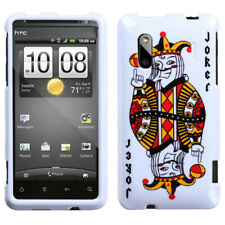 White Joker Hard Snap On Cover Protector Case HTC EVO Design 4G/Hero S/Kingdom
