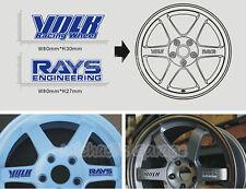 4X Rays Engineering Volk Wheel Racing Sport Car Sticker Decal Logo Rim Uni Fit