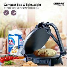 "8"" Electric Chapati Maker Flat Bread Naan Tortilla Roti Press Machine - Geepas"