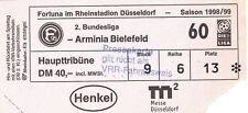 Ticket - Fortuna Dusseldorf v Arminia Bielefeld 1998/9